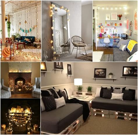 How To Decorate Your Livingroom by Decorate Your Living Room With String Lights