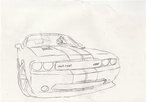 how to draw a dodge challenger drawingforall net dodge challenger wheelie project comment challenge by