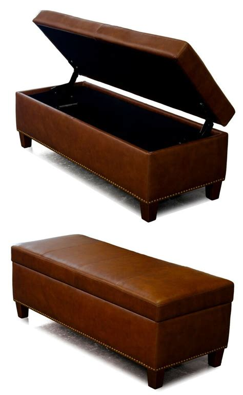 genuine leather storage bench coffee table oversized
