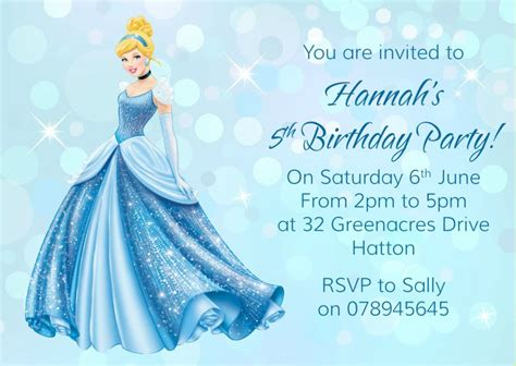 cinderella birthday invitation card template cinderella birthday invitation wording best ideas