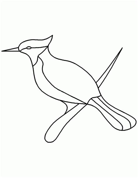 pattern drawing bird bird stencil printable coloring home