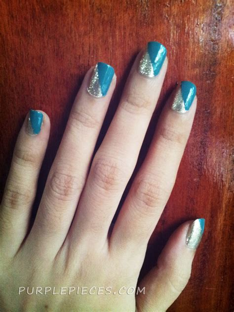 easy nail art using tape simple nail art using scotch tape