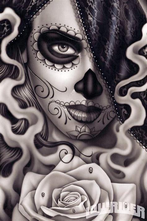 tattoo girl skull sexy sugar skull tattoos pinterest sugar skulls