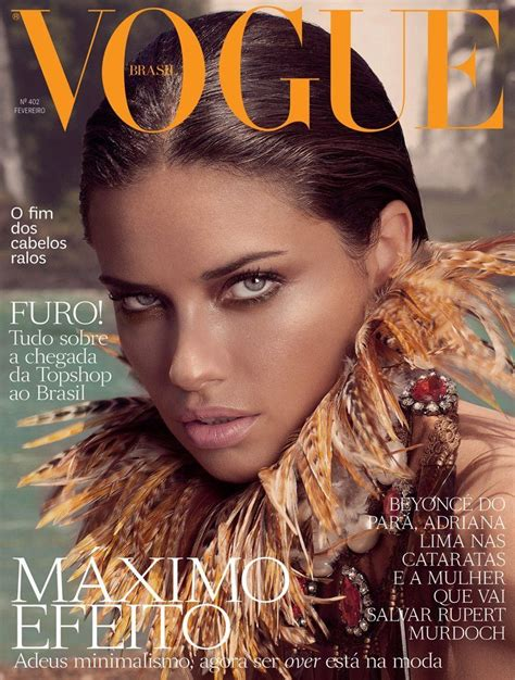 design magazine brazil adriana lima on vogue magazine brazil february 2012