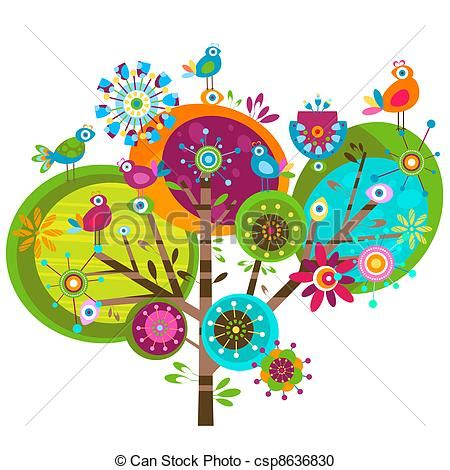 blue flower tree family symbolize happy home decor wall free whimsical tree clipart 67