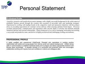 Resume Personal Profile Statement Examples Writing Overview Cv