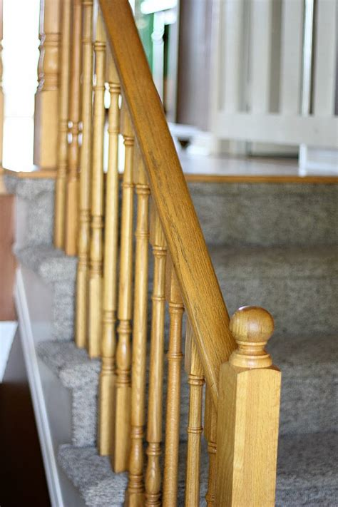 how to restain stair banister stairway remodel part 2 sanding and staining stair treads