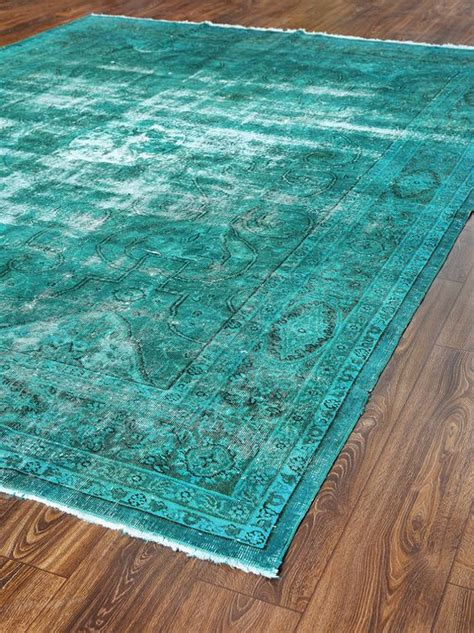 Turqoise Rug by 141x106 Inches Wool Carpets Patchwork Rug Turquoise Color Rugs Vintage Turkish Rug Woven Rugs