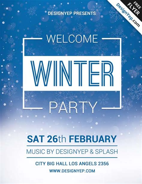 Download Free Winter Flyer Psd Templates For Photoshop Winter Flyer Template