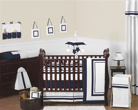 Baby Boy Crib Bedding Set by Contemporary Modern Navy And White Discount Cheap Baby Boy