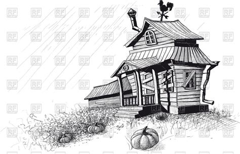 Small A Frame Cabin old clipart big house pencil and in color old clipart