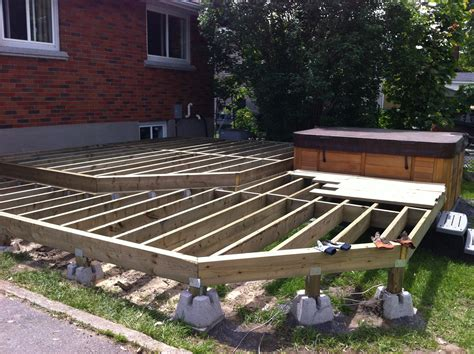 Shed On Deck Blocks by Two Level Deck Framing Floating On Dek Blocks This Is