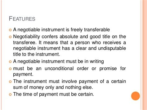 section 1 negotiable instruments law negotiable instrument act 1881