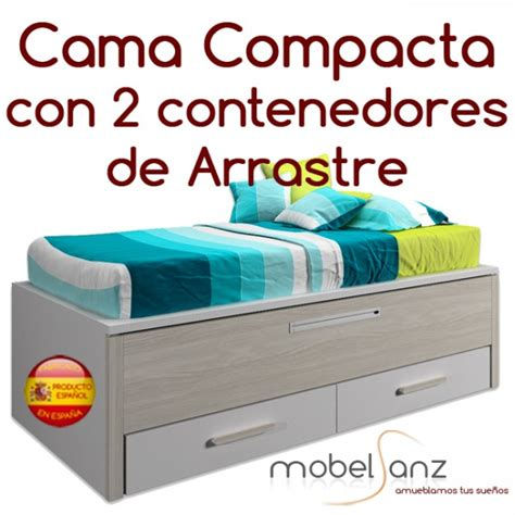 cama compacta juvenil cajones cama compacto juvenil con 2 contenedores o cajones