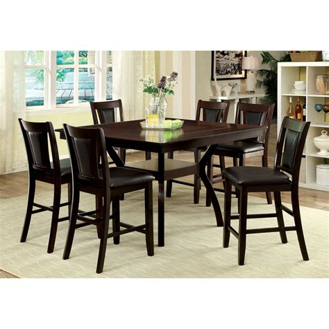pub dining set hokku designs bari 7 counter height pub dining set wayfair