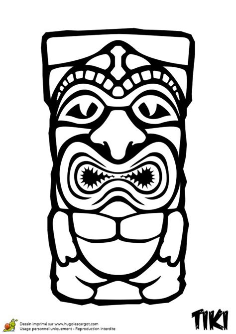 tiki face coloring page www imgkid com the image kid