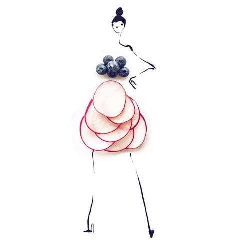 fashion illustration with food when food and fashion collide on instagram glitter inc glitter inc