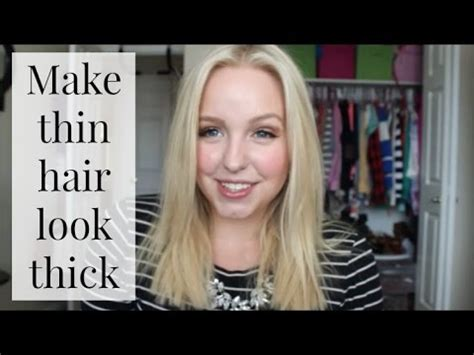will a haircut make my hair thicker how to make thin hair look thick 10 tips youtube