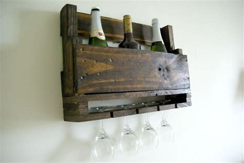 How To Build A Wine Rack Shelf by Diy Wall Mounted Wine Racks Made Of Pallets