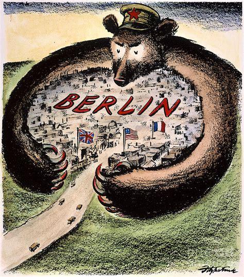 Iron Curtain Political Cartoons Cold War Political Cartoon Berlin Bear Thinglink