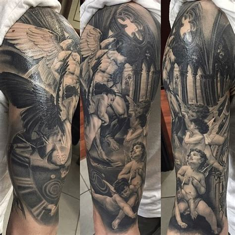 church and angels tattoo best tattoo ideas gallery