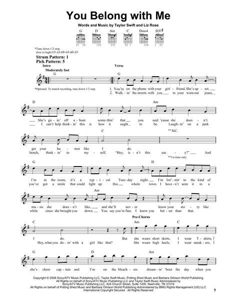 taylor swift chords getaway car you belong with me sheet music direct