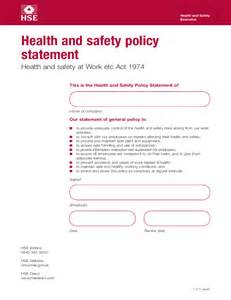 Health Safety Statement Template health and safety policy statement template free