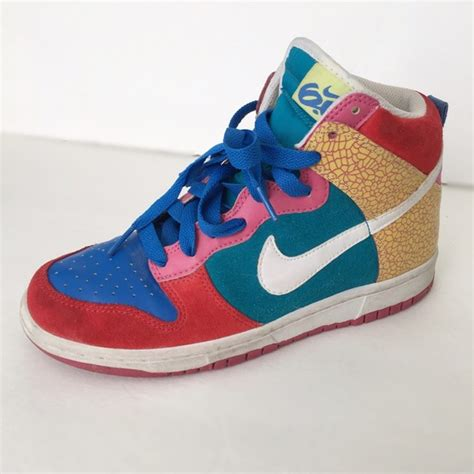 multi colored nike shoes 66 nike shoes nike dunk high 6 0 multi colored