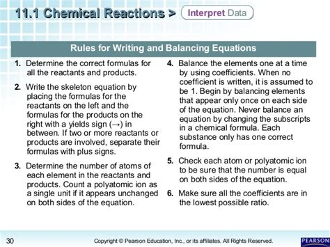 11 1 Describing Chemical Reactions Section Review Answers by All Chemistry Equations Worksheets Tutsstar Thousands Of