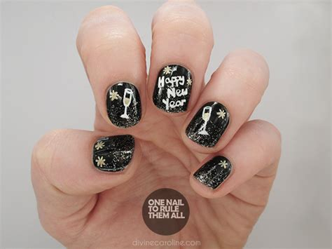 nail art tutorial new year a tutorial to toast fun nail art for the new year more com