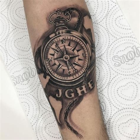 black and grey compass tattoo compass tattoo meanings nautical designs ideas 2018