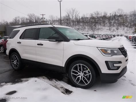 2016 explorer sport 2016 white platinum metallic tri coat ford explorer sport