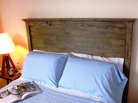 makeshift headboard how to make a rustic style headboard how tos diy