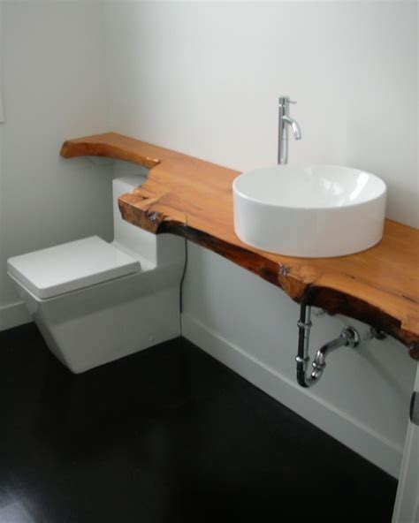 stained concrete bathroom floor modern bathroom with black stained concrete floor easily contrasts a rustic wood