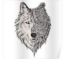 wolf mandala posters redbubble