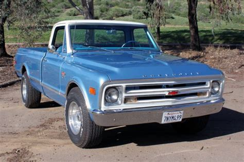 1968 chevrolet truck 1968 chevy truck blue and white