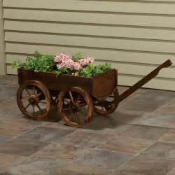 stonegate designs wooden wagon planter model xl103