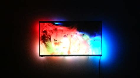 ambient light behind tv ambiscreen ambient screen back lighting for any device
