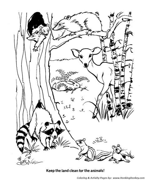 Earth Day Coloring Pages Protect Natural Habitats Animal Habitat Coloring Pages