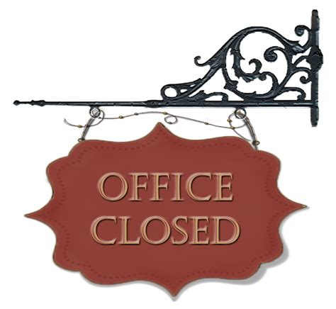 template for holiday office closed sign pictures to pin on