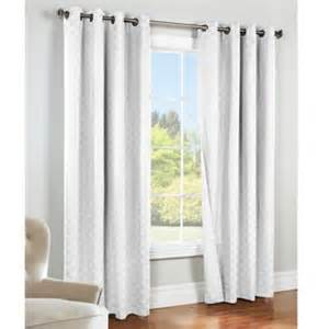 84 inch insulated blackout grommet window curtain panel in white