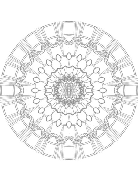 mandala coloring pages vector free vector graphic mandala coloring page free image