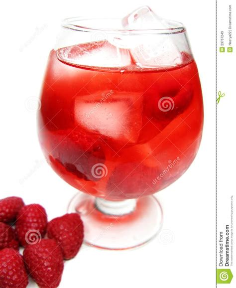 red drink red fruit cocktail royalty free stock photo