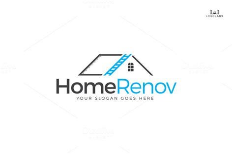 home renovation logo logo templates on creative market