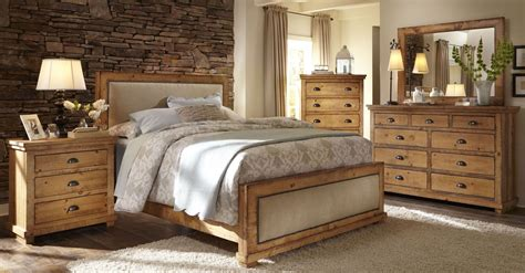 distressed pine bedroom furniture willow distressed pine upholstered bedroom set from