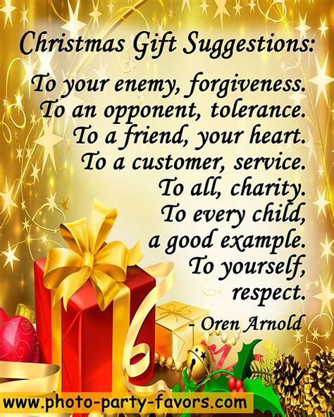 christmas gift suggestions   enemy forgiveness   opponent tolerance   friend