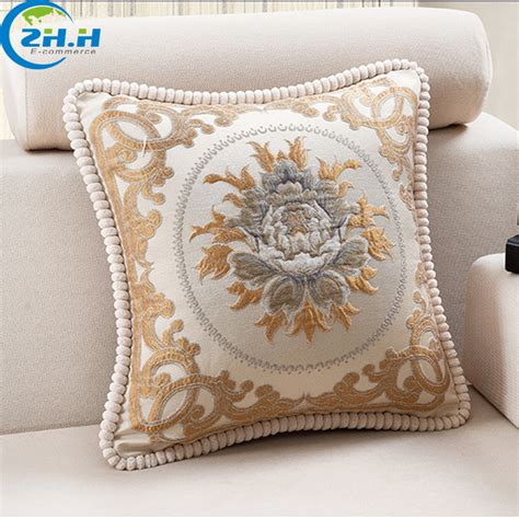 Luxury Throw Pillows For Sofas Luxury Sofa Pillows Europe Style Luxury Contracted Jacquard Chenille Fabric Decorative Thesofa