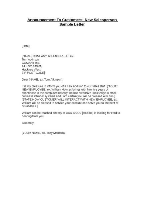 New Hire Introduction Letter Sles by New Employee Announcement Letter Sle