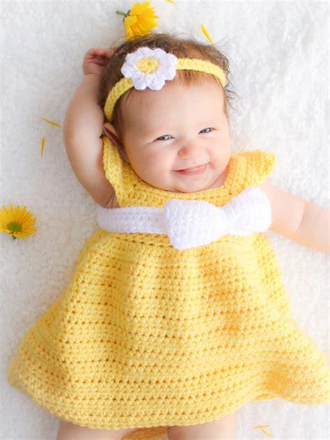 Dres Baby simply crochet baby dress newborn 6 months