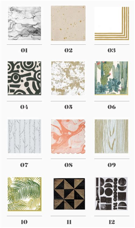 Modern Paper - 12 modern paper napkin options almost makes